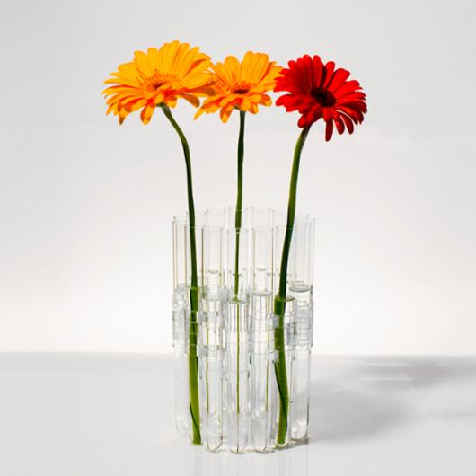 Vase Lilly (16 Glass Tubes & 32 Clips)