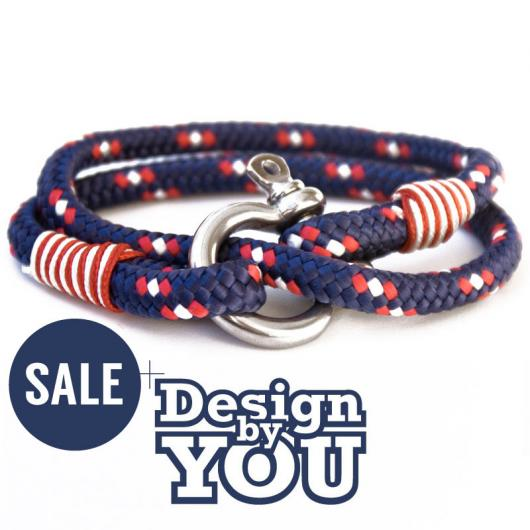 28 Belmont - Hand rigged Bracelet, 6 mm - customizable