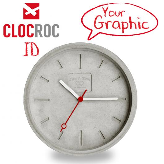 Clocroc Wall Clock Aviation Big: with your personal grafic or artwork
