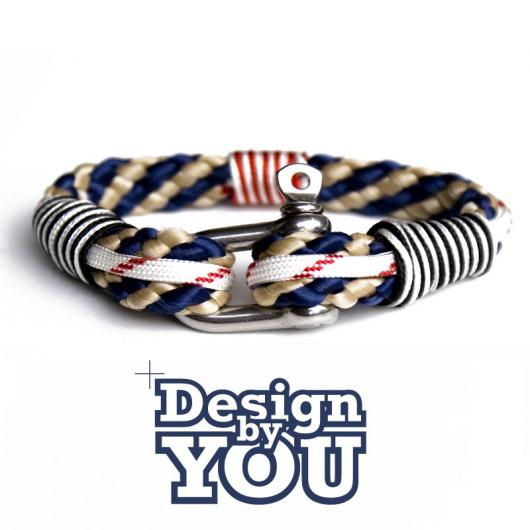 31 Jaws - Hand rigged Bracelet, 8 mm, flat woven - customizable