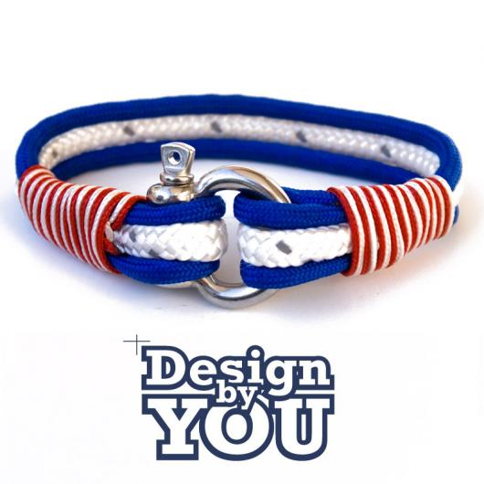 29 Puerto Plata - Hand rigged Bracelet, 6 mm / 4,5 mm - customizable
