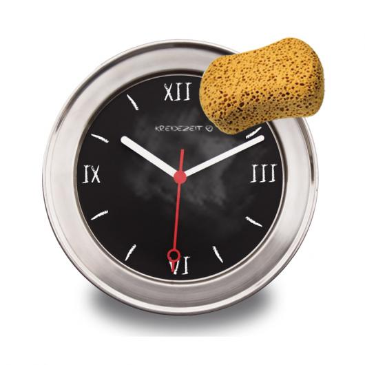 Black Board, stainless steel - Wall Clock