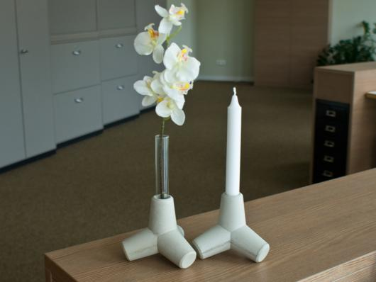 2er Set Sylpo - Candle Holder & Vase